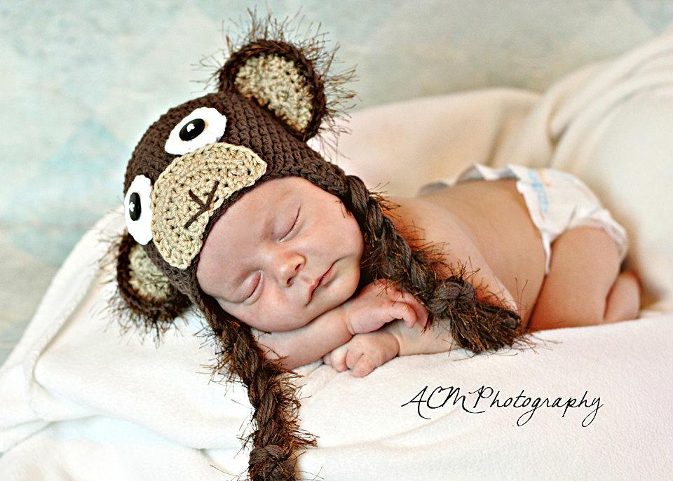 Crochet Monkey Hat Newborn To Toddler Sizing Photography Prop On Luulla